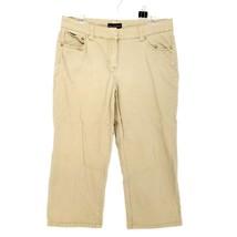 Dana Buchman Signature Khaki Crop Career Dress Women's Pants 10 Cotton B... - $12.19