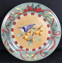 "Lenox Winter Greetings Everyday NUTHATCH Dinner Plate 10 3/4"" Dia Christmas - $14.84"