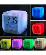 Glowing LED Color Change Digital Alarm Clock By MoodiCare - $12.99