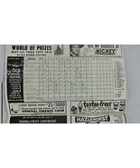 Chicago White Sox vs Boston Red Sox Official 1966 Scorebook at Comiskey ... - $13.84