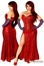 Miss Jessica ~ Red Sequin Jessica Rabbit Corset Costume Gown - $260.00