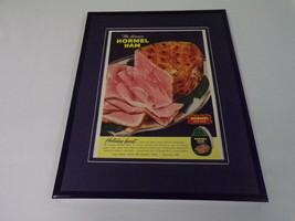 1951 Hormel Ham Framed 11x14 ORIGINAL Vintage Advertisement - $46.39