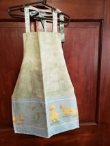 Child/Youth Lined Cotton Apron with pockets - Cute Baby Ducks! Large  (8 - 10) - $12.99