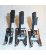 Three Kenmore Model 158 Super High Shank ZZ, Satin Stitch & Straight Stitch Feet - $23.25 CAD