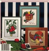 Cross Stitch Garden Gourmet Vegetables Bunny Feast Cornucopia Patterns  - $11.99