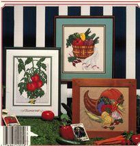 Cross Stitch Garden Gourmet Vegetables Bunny Feast Cornucopia Patterns  - $11.99