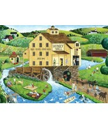 Hometown Gallery Honey Mill - PicnicPicnic by Art Poulin 1000 Piece Jigs... - $18.81