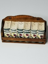 Vintage Spice Set, Set of 6 Book-Style Spice Containers Floral Made in J... - £17.09 GBP