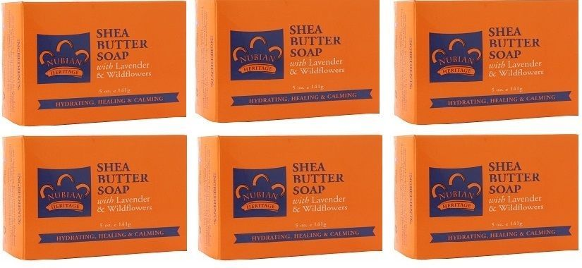 "Primary image for Nubian Heritage ""Shea Butter Soap""  / 6 Pack 5oz, Bar, , Shea Butter"