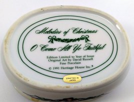 1991 Music Box Heritage House Melodies Of Christmas O Come All Ye Faithful image 4