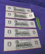 National Baseball HOF Hall Of Fame And Museum 5 Tickets 1993 Cooperstown NY  - $14.84