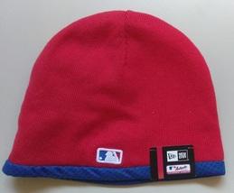 New Era MLB Unisex Beanie PHILADELPHIA PHILLIES RED/BLUE Trim New - £15.43 GBP
