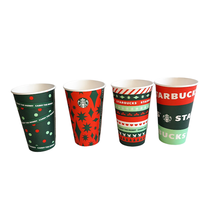 50 Starbucks Holiday Christmas Disposable Paper Cups New Sealed Sleeve 1... - $19.80