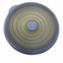 """Tupperware Stuffables Blue Lavender Round 8"""" Expandable Replacement Lid ... - $5.69"""