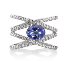 2.23 Ct Oval Purple Blue Mystic Topaz 925 Sterling Silver Ring - $95.98