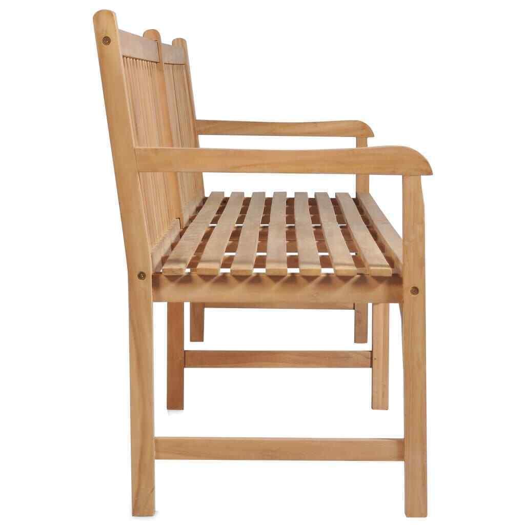 vidaXL Solid Teak Outdoor Bench w/ Finish 3-seater Garden Chair Patio 2 Sizes image 10