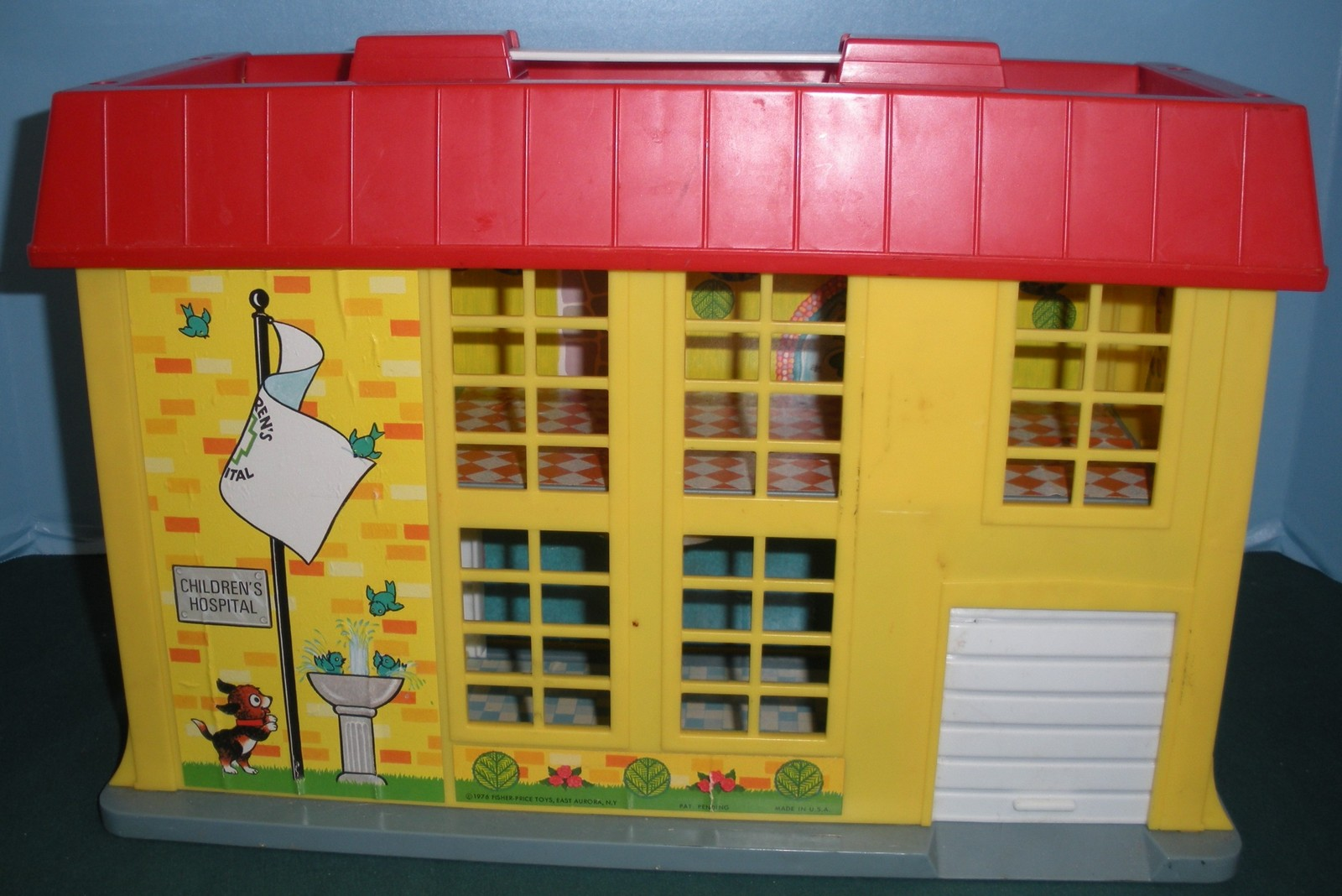 Vintage Fisher Price Play Family #931 Hospital Complete + Bonus/VG++-EXC! (O)