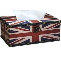 PANDA SUPERSTORE Retro British Flag Napkin Box/Tissue Box (25.5159cm)