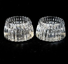 2 (Two) MIKASA TITAN Cut Crystal Votive Candle Holders -DISCONTINUED PAT... - $28.99