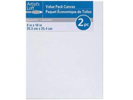 "Artist's Loft Necessities Canvas Value Pack, 2pcs 8"" x 10"" #472544"