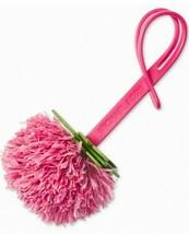 Michael Kors Nwt Novedad Pomelo Pom Pom Purse-Charm Ultra Rosa Cuero - $16.81