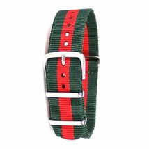 22mm X 255mm Nato Canvas Nylon wrist watch Band strap ARMY GREEN RED - €13,01 EUR