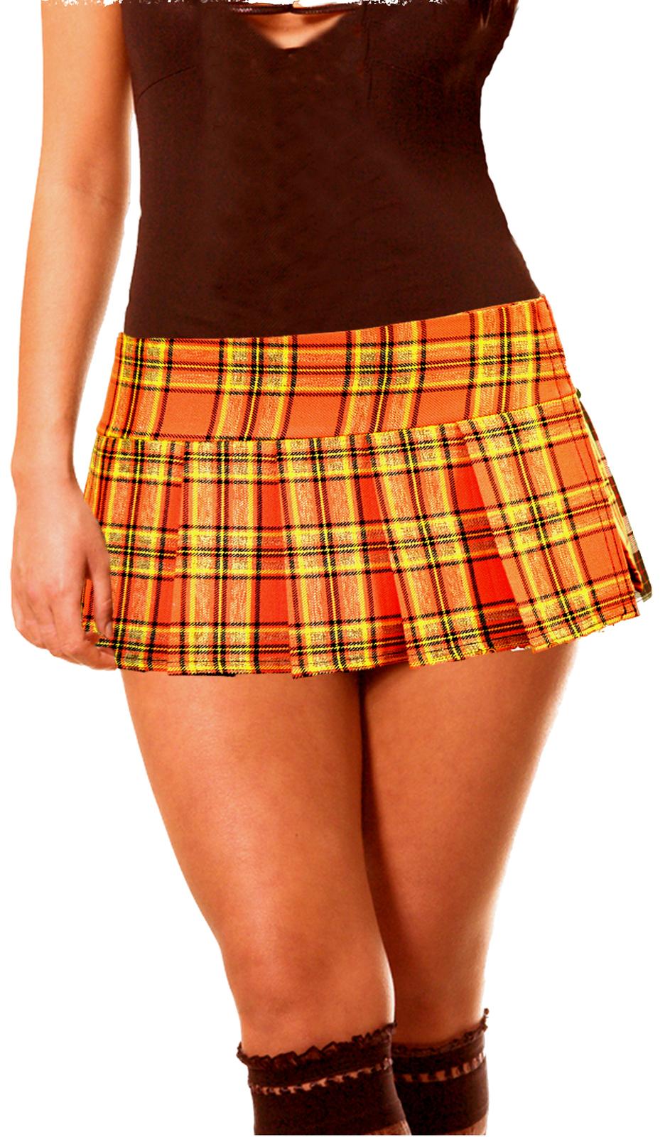 1f12f330b8 Orange Schoolgirl Plaid Tartan Pleated Micro and 35 similar items