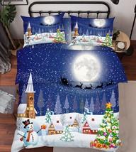 3D Christmas Eve Bed Pillowcases Quilt Duvet Cover Set Single Queen King... - $90.04+