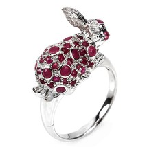 Ring Ruby . Silver 925 . Rabbit-shaped - $188.05