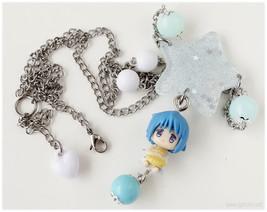 Fairy Kei, Puella Magi Madoka Magika, Miki Sayaka Necklace, Beaded Stain... - $27.00