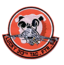 """5"""" Air Force 313 Tactical Fighter Squadron Lucky Embroidered Patch - $18.04"""