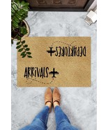 Arrivals Departure Doormat Cute Airplane Floor Mat Welcome Home Porch Ma... - $29.65+
