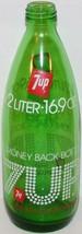 Vintage soda pop bottle 7 UP Money Back Bottle 1/2 Liter 16.9oz size 197... - $8.99