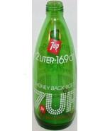 Vintage soda pop bottle 7 UP Money Back Bottle 1/2 Liter 16.9oz size 197... - $9.99