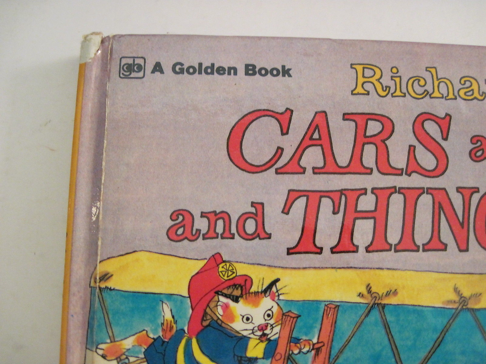 Richard Scarry's Cars and Trucks and Things That Go 1974 Golden Press Hardcover