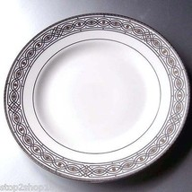 "Wedgwood Marcasite Chain Accent Salad Plate 8"" Platinum New - $14.90"