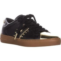 MICHAEL Michael Kors Frankie Stripe Sneakers, Black/Pale Gold, 9.5 US / ... - $63.35