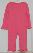 Blanks Boutique Long Sleeve Snap Up Pink Ruffle Romper Size 2T image 2