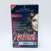 Schwarzkopf Berry Brown 5.3 Keratin Color Intense Color Permanent Hair Dye New - $16.99