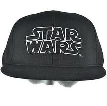 Star Wars Simple Logo Youth Black Baseball Hat Childrens Adjustable - $11.88