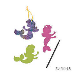 Pastel Magic Color Scratch Mermaids - 24 ct