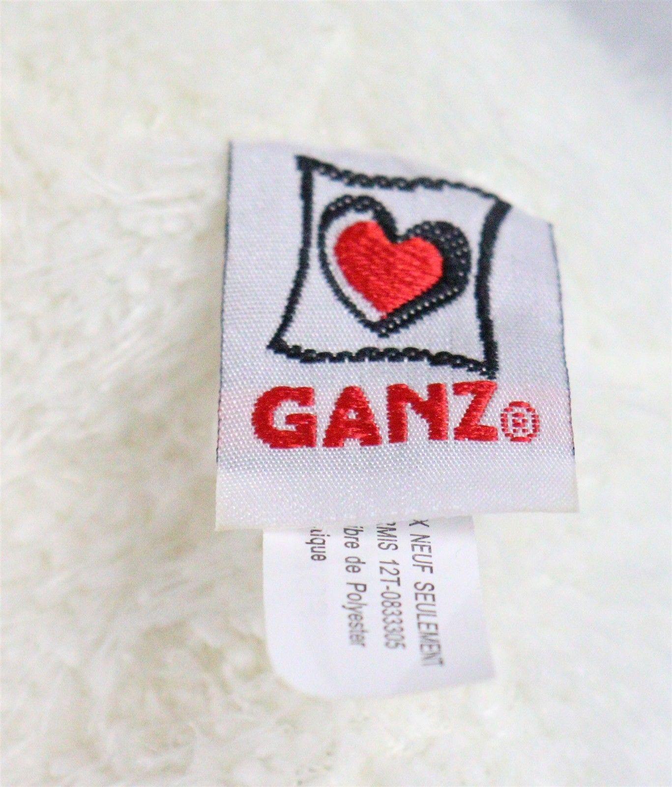 "Ganz White Polar Bear Stuffed Animal Plush 9"" Long, 6"" High"