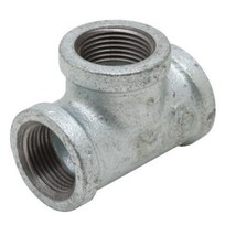 """GMRT1009 1 X 3/4"""" Galvanized Malleable Reducing Tee With Female Threaded Fitting - $7.17"""
