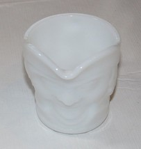 Milk Glass Creamer Federal Heat Proof Colonial Man Pattern Vintage RARE ~ - $17.81
