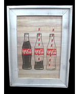 Coca-Cola Wood Shaker Framed Contour Bottle Wall Decor - BRAND NEW - $26.73