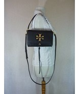 NWT Tory Burch Black Leather Miller Metal Cross-Body Bag/Mini Shoulder B... - $374.22