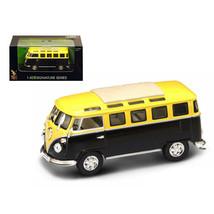 1962 Volkswagen Microbus Van Bus Yellow/Black 1/43 Diecast Car by Road S... - $22.66