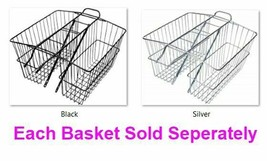"Rear Large Twin Basket Metal Wald 2 Hues 18"" X7.5"" X 12"" Carrying Cargo ... - $249.69"