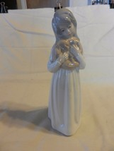 Porcelans Jango Girl with Pillow  Figurine, Hand Painted Made in Spain - $44.54