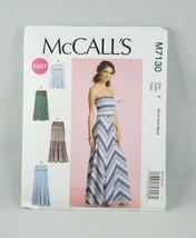 McCall's Dress Skirt Sewing Pattern M7130 Size Xsmall - Medium - $8.58